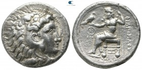 Eastern Europe. Mint in the region of the lower Danube, Moesia, or Thrace. Imitation of Philip III of Macedon 150-50 BC. Tetradrachm AR