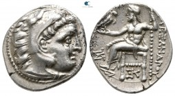 Kings of Macedon. Kolophon. Antigonos I Monophthalmos 320-301 BC. In the name and types of Alexander III. Struck circa 318-310 BC. Drachm AR