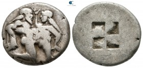 Islands off Thrace. Thasos 500-480 BC. Stater AR