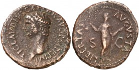 (41-42 d.C). Claudio. As. (Spink. 1859) (Co. 47) (RIC. 97). 13,19 g. MBC-.
