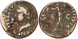 (69 d.C.). Vitelio. Tarraco. As. (Spink 2218) (Co. 49) (RIC. 43) (ACIP. 4252). 8,41 g. BC+.