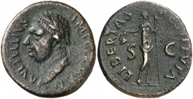 (69 d.C.). Vitelio. Tarraco. As. (Spink 2218) (Co. 49) (RIC. 43) (ACIP. 4252). 10,28 g. MBC.