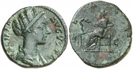 (167 d.C.). Lucilla. As. (Spink 5522) (Co. 66) (RIC. 1760). 12,22 g. Pátina verde. MBC+/MBC.