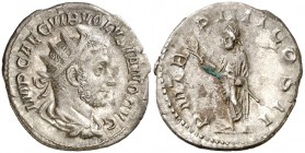 (253 d.C.). Volusiano. Antoniniano. (Spink 9762) (S. 92) (RIC. 140). 2,92 g. MBC+.