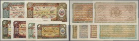 Albania: set of 6 different notes Foreign Exchange Certificate containing 1,5,10,50,100 and 500 Lek 1953 P. FX4-FX9, the 100 with corner fold in aUNC ...
