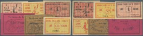 Albania: set with 6 Banknotes Notgeld Italian occupation of Berat 0,50 Lire April and May 1924, 1 Lire April and May 1924 and 2 notes French occupatio...