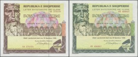 Albania: set of 3 notes 10.000, 15.000 and 20.000 Leke 1996 P. NL, in condition 2x aUNC, 1x VF+, nice set. (3 pcs)