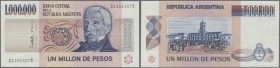 Argentina: 1.000.000 Pesos ND(1981-83) P. 310, minor dint at upper left, otherwise perfect, condition: aUNC.