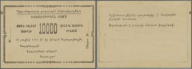 Armenia: Alexandrapol city government 1000 Rubles 1921 remainder, P.NL, minor creases in the paper, tiny brownish stain at left border, pencil writing...