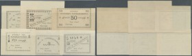 Armenia: City government Erivan set with 6 Banknotes 1, 3, 5, 10, 25 and 50 Rubles ND(1920), P.NL, some with tiny dint at the corners, or small graffi...