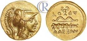 Ancient Greece. Macedonian Kingdom. Alexander III 'the Great', Gold 1/4 Stater (2.10 g). Amphipolis. c. 330-320 BC.  Древняя Греция. Македонское царст...