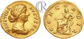 Roman Empire. Faustina Junior, wife of Marcus Aurelius (died AD 175/6). AV Aureus (gold, 7.20 g). Rome, AD 161-176.  Римская империя. Фаустина младшая...