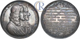 Netherlands. The Assassination of the Brothers Johann and Cornelius de Witt, Silver Medal, 1672. Silver, 43, 65 g. Медаль 1672 года. В память убийства...