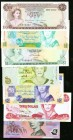 Bahamas, Belize, Fiji, and Australia Group Lot of 7 Examples Crisp Uncirculated.   HID09801242017