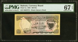 Bahrain Currency Board 100 Fils 1964 Pick 1a PMG Superb Gem Unc 67 EPQ.   HID09801242017