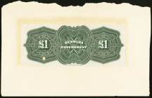 Bermuda Bermuda Government 1 Pound 1914 Pick 1bp Back Proof Fine-Very Fine. One POC present; large tear and archival tape noted.  HID09801242017