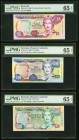 Bermuda Monetary Authority 5; 10; 20 Dollars 24.5.2000; Pick 51a; 52a; 53a PMG Gem Uncirculated 65 EPQ.   HID09801242017