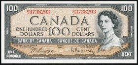 Canada Bank of Canada $100 1954 BC-43b Extremely Fine.   HID09801242017