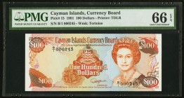 Cayman Islands Currency Board 100 Dollars 1991 Pick 15 PMG Gem Uncirculated 66 EPQ.   HID09801242017