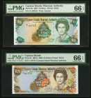 Cayman Islands Monetary Authority 5; 25 Dollars 2001; 1988 Pick 27a; 24 Two Examples PMG Gem Uncirculated 66 EPQ.   HID09801242017
