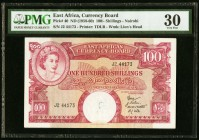 East Africa East African Currency Board 100 Shillings ND (1958-60) Pick 40 PMG Very Fine 30. Annotation.  HID09801242017