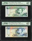 East Caribbean States Central Bank, Grenada 5; 10 Dollars ND (1993) Pick 26g; 27g Two Examples PMG Superb Gem Unc 67 EPQ (2).   HID09801242017