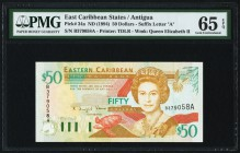 East Caribbean States Central Bank, Antigua 50 Dollars ND (1994) Pick 34a PMG Gem Uncirculated 65 EPQ.   HID09801242017