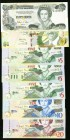 East Caribbean States and Bahamas Group Lot of 7 Examples Crisp Uncirculated.   HID09801242017