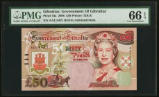 Gibraltar Government of Gibraltar 50 Pounds 1.12.2006 Pick 34a PMG Gem Uncirculated 66 EPQ.   HID09801242017