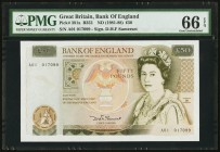 Great Britain Bank of England 50 Pounds ND (1981-88) Pick 381a PMG Gem Uncirculated 66 EPQ.   HID09801242017