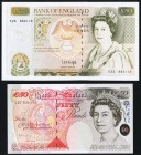 Great Britain Bank of England 50 Pounds ND (1991-93; 2006) Pick 381c; 388c Two Examples About Uncirculated-Crisp Uncirculated.   HID09801242017