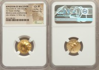 MACEDONIAN KINGDOM. Alexander III the Great (336-323 BC). AV stater (18mm, 8.60 gm, 2h). NGC Choice XF 4/5 - 4/5. Lifetime or early posthumous issue o...