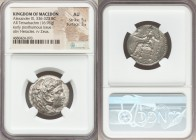 MACEDONIAN KINGDOM. Alexander III the Great (336-323 BC). AR tetradrachm (25mm, 16.96 gm, 7h). NGC AU 5/5 - 3/5. Early posthumous issue of 'Babylon', ...