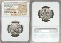 MACEDONIAN KINGDOM. Alexander III the Great (336-323 BC). AR tetradrachm (25mm, 4h). NGC AU. Lifetime issue of uncertain Macedonian mint, ca. 336-323 ...