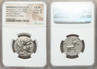MACEDONIAN KINGDOM. Alexander III the Great (336-323 BC). AR tetradrachm (25mm, 16.99 gm, 12h). NGC Choice XF 4/5 - 3/5. Late lifetime or early posthu...