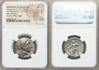 MACEDONIAN KINGDOM. Alexander III the Great (336-323 BC). AR tetradrachm (25mm, 16.67 gm, 11h). NGC XF 5/5 - 3/5. Lifetime issue of 'Amphipolis'. Head...