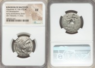 MACEDONIAN KINGDOM. Alexander III the Great (336-323 BC). AR tetradrachm (25mm, 7h). NGC XF. Lifetime or early posthumous issue of Amphipolis, ca. 323...