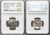 MACEDONIAN KINGDOM. Alexander III the Great (336-323 BC). AR tetradrachm (24mm, 17.24 gm, 11h). NGC Choice VF 5/5 - 2/5, graffito. Lifetime issue of '...