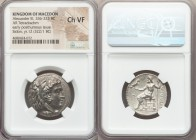 MACEDONIAN KINGDOM. Alexander III the Great (336-323 BC). AR tetradrachm (26mm, 12h). NGC Choice VF. Posthumous issue of Sidon, Civic Year 12 (322/1 B...
