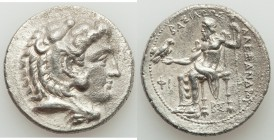 MACEDONIAN KINGDOM. Alexander III the Great (336-323 BC). AR tetradrachm (28mm, 16.73 gm, 9h). XF. Early posthumous issue, Side, 325-320 BC. Head of H...