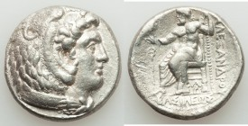 MACEDONIAN KINGDOM. Alexander III the Great (336-323 BC). AR tetradrachm (26mm, 16.97 gm, 8h). XF. Lifetime or early posthumous issue of Aradus, ca. 3...
