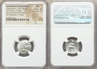MACEDONIAN KINGDOM. Alexander III the Great (336-323 BC). AR drachm (18mm, 4.30 gm, 12h). NGC MS 4/5 - 4/5. Lifetime issue of Sardes, ca. 334-323 BC. ...