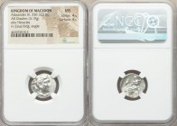 MACEDONIAN KINGDOM. Alexander III the Great (336-323 BC). AR drachm (17mm, 4.19 gm,12h). NGC MS 4/5 - 4/5. Late lifetime issue of Abydus(?), ca. 328-3...