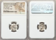MACEDONIAN KINGDOM. Alexander III the Great (336-323 BC). AR drachm (16mm, 4.30 gm, 11h). NGC MS 4/5 - 4/5, flan flaw. Lifetime issue of Sardes, ca. 3...