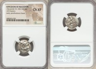 MACEDONIAN KINGDOM. Alexander III the Great (336-323 BC). AR drachm 18mm, 5h). NGC Choice XF. Posthumous issue of Abydus (?), ca. 310-301 BC. Head of ...