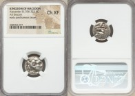 MACEDONIAN KINGDOM. Alexander III the Great (336-323 BC). AR drachm (18mm, 7h). NGC Choice XF. Early posthumous issue of Teos, ca. 310-301 BC. Head of...