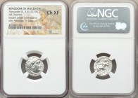 MACEDONIAN KINGDOM. Alexander III the Great (336-323 BC). AR drachm (17mm, 1h). NGC Choice XF. Posthumous issue of Colophon, under Lysimachus, ca. 310...