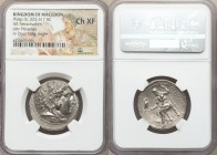 MACEDONIAN KINGDOM. Philip III Arrhidaeus (323-317 BC). AR tetradrachm (27mm, 11h). NGC Choice XF. Lifetime issue of Sidon, under Ptolemy I Soter as S...