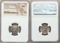 THRACIAN KINGDOM. Lysimachus (305-281 BC). AR drachm (18mm, 12h). NGC AU. In the name and types of Alexander III of Macedon, Colophon, ca. 301-297 BC....