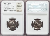 ATTICA. Athens. Ca. 460-440 BC. AR tetradrachm (22mm, 17.18 gm, 9h). NGC Choice VF 4/5 - 3/5, horn silver. Head of Athena right, wearing crested Attic...